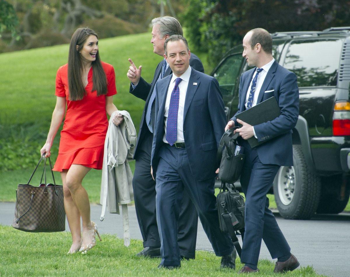 Khi bắt đầu làm việc cho nhà Trump, Hicks chịu trách nhiệm PR cho dòng sản phẩm thời trang cao cấp của Ivanka Trump cùng một vài khu nghỉ dưỡng của gia đình. Ảnh: Getty.