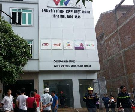 Chay tai toa nha truyen hinh cap Viet Nam o Nghe An - Anh 1
