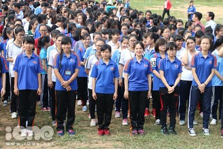 400 sinh vien xep tranh ASEAN hoi nhap xac lap ky luc Viet Nam - Anh 1