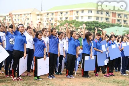 400 sinh vien xep tranh ASEAN hoi nhap xac lap ky luc Viet Nam - Anh 6