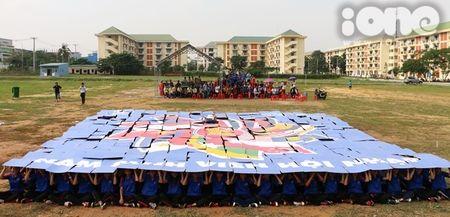 400 sinh vien xep tranh ASEAN hoi nhap xac lap ky luc Viet Nam - Anh 7