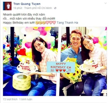 Lo anh Tang Thanh Ha xinh tuoi don sinh nhat tuoi 29 ben ban than - Anh 1