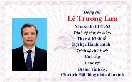 Ong Le Truong Luu lam Bi thu Tinh uy Thua Thien Hue khoa 15 - Anh 1