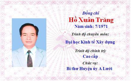 Ong Le Truong Luu lam Bi thu Tinh uy Thua Thien Hue khoa 15 - Anh 49