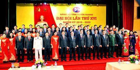 Danh sach Ban Chap hanh Dang bo, Ban Thuong vu Tinh uy Tuyen Quang khoa 16 - Anh 1