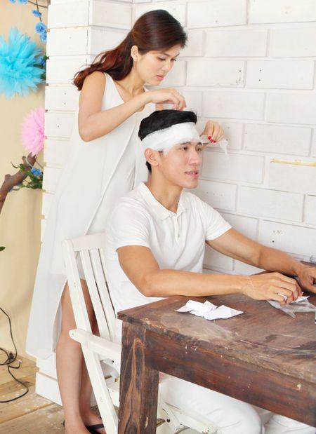 Oanh Yen lan dau quay MV cung ban trai - Anh 1