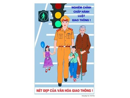 Trao giai tranh co dong ve ATGT - Anh 1