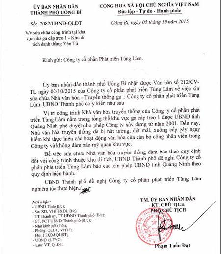 Dinh chi thi cong cong trinh cua cong ty Tung Lam o Yen Tu - Anh 2