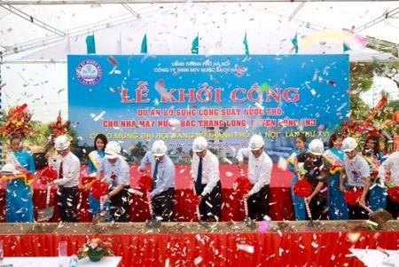 Khoi cong du an bo sung cong suat nuoc tho cho Nha may nuoc Bac Thang Long - Anh 1