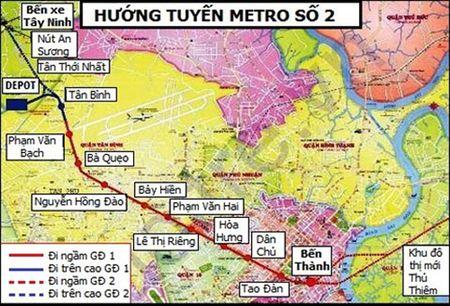 Tuyen metro so 2 TP.HCM doi von len hon 2 ti USD - Anh 1