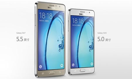 Samsung ra mat bo doi smartphone gia re Galaxy On5 va On7 - Anh 1