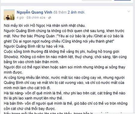 Nghen ngao loi chuc sinh nhat Ho Ngoc Ha cua nha van Nguyen Quang Vinh - Anh 1