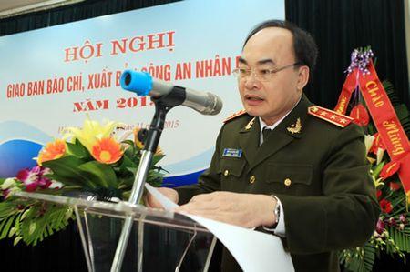 Hoi nghi giao ban bao chi, xuat ban Cong an nhan dan nam 2015 - Anh 1