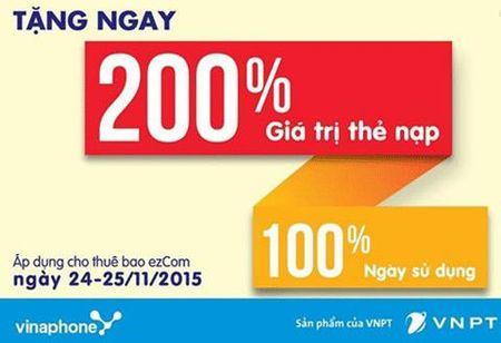 Khach hang 'mac lom' voi khuyen mai 200% the cao cua Vinaphone - Anh 2