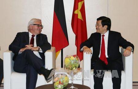 Chu tich nuoc hoi dam voi Thu tuong Duc Angela Merkel - Anh 2