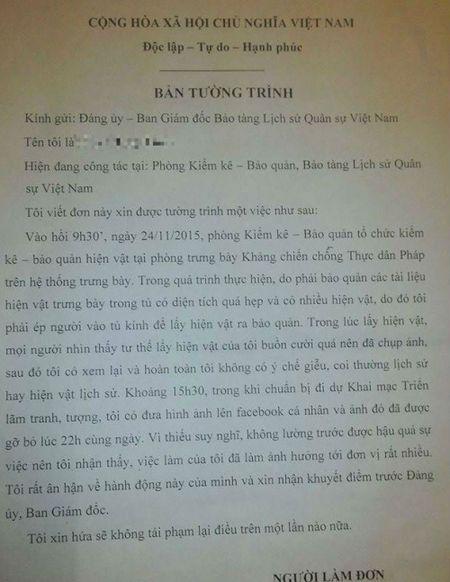 Nu nhan vien chup anh 'ky quai' trong bao tang thay an han - Anh 3