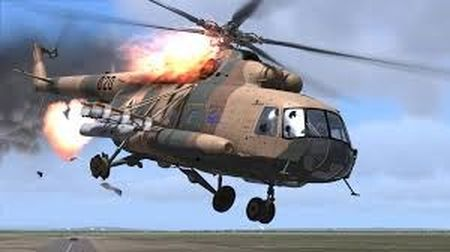 Truc thang Mi-8 cua Nga gap nan, 25 nguoi thuong vong - Anh 1