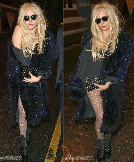 Lady Gaga dau toc bu xu, 'uon eo' tren duong pho - Anh 4
