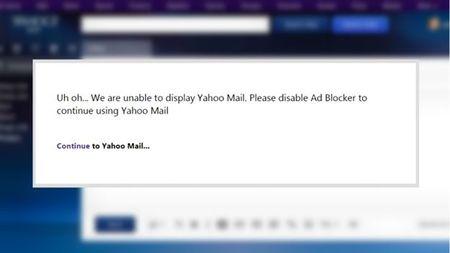 Yahoo Mail se khong hoat dong neu nguoi dung chan quang cao - Anh 2