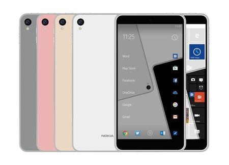 Nokia C1 mau giong iPhone 6s, ho tro ca Android va Windows - Anh 1
