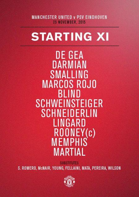 MU 0-0 PSV (H1): Rooney va Martial tro lai sau chan thuong - Anh 6