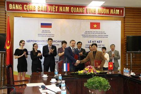 Ky ket hop tac van hoa giua Viet Nam va Lien bang Nga - Anh 1