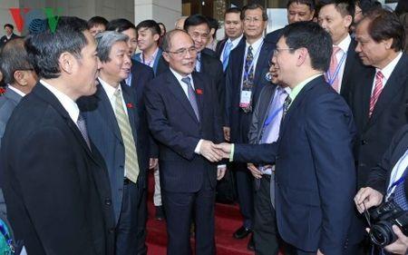 Chu tich Quoc hoi Nguyen Sinh Hung tiep Lien doan Nha bao ASEAN - Anh 2