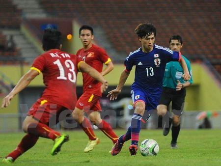 U23 Viet Nam tai ngo doi thu Nhat Ban tai Trung Dong - Anh 1