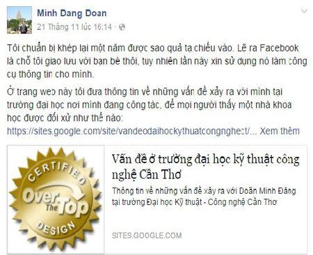 Giang vien noi xau truong tren facebook: Tiet lo ly do ky luat - Anh 1