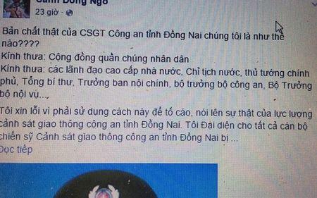 "Bi ""beu"" tren Facebook: Giam doc Cong an Dong Nai noi gi? - Anh 1"