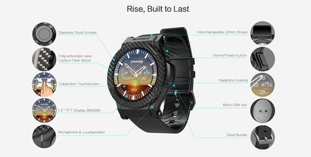 Omate Rise: Smartwatch chay Android 5.1 Lollipop, co 3G, ket noi Android va iPhone, gia 349 USD - Anh 1