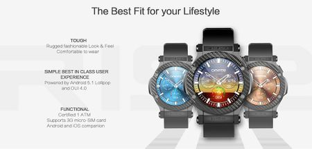 Omate Rise: Smartwatch chay Android 5.1 Lollipop, co 3G, ket noi Android va iPhone, gia 349 USD - Anh 2