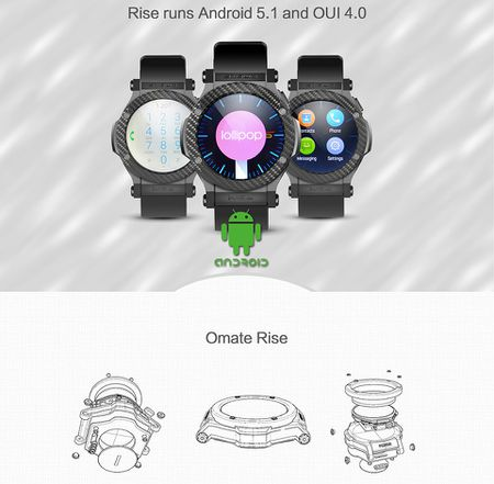 Omate Rise: Smartwatch chay Android 5.1 Lollipop, co 3G, ket noi Android va iPhone, gia 349 USD - Anh 4
