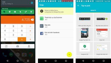 """Gan widget vao """"trung tam thong bao"""" cua may Android bang ung dung Snap - Anh 1"""