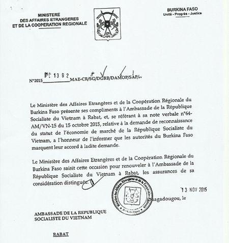 Burkina Faso cong nhan quy che kinh te thi truong cua Viet Nam - Anh 1