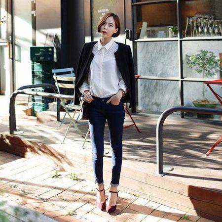 7 cach mac quan skinny jean cuc trendy cho nang cong so - Anh 3