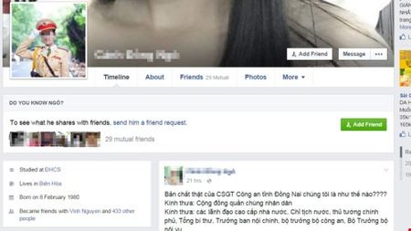 Cong an Dong Nai len tieng ve bai 'ban chat that CSGT' tren Facebook - Anh 2