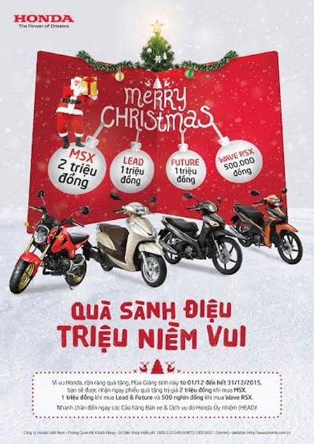 Nhieu chuong trinh khuyen mai dip Giang sinh cua Honda Viet Nam - Anh 1