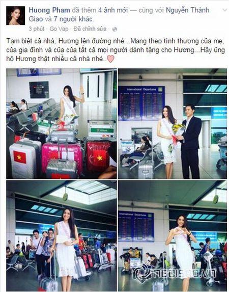 Pham Huong xinh dep len duong di thi Hoa hau Hoan vu 2015 - Anh 1