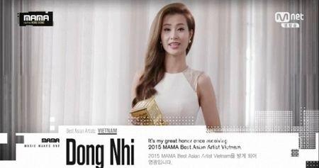 Dong Nhi doat giai 'Nghe si chau A xuat sac nhat' tai MAMA 2015 - Anh 1
