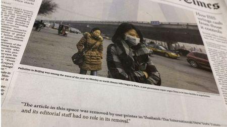 New York Times Thai Lan tu choi in cac bai tren trang nhat tap chi - Anh 1