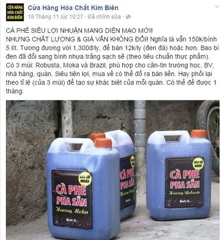 Cong khai ban ca phe hoa chat sieu loi nhuan - Anh 1