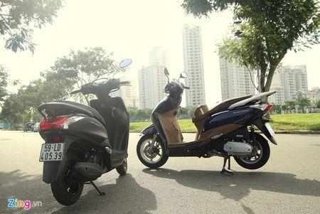Do muc tieu hao nhien lieu cua Yamaha Acruzo va Honda Lead - Anh 1