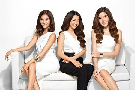 Huyen My, Lan Ngoc va Nha Phuong bien hoa voi sac trang - Anh 4