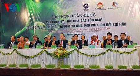 Ong Nguyen Thien Nhan du hoi nghi cac ton giao voi bien doi khi hau - Anh 1