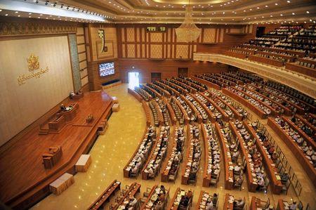 Quoc hoi moi cua Myanmar bau Chu tich, Pho Chu tich hai vien - Anh 1
