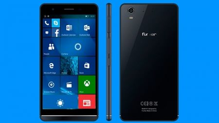 Funker W5.5 Pro: Smartphone tam trung chay Windows 10 - Anh 1