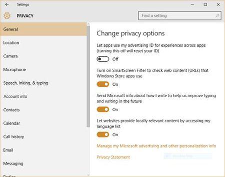 Windows 10: Nhung thu thuat bao ve tinh rieng tu - Anh 1