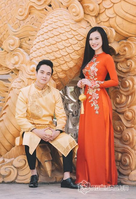 Nhat Tinh Anh tinh tu ben Cao Thuy Linh cung nhau don xuan - Anh 3