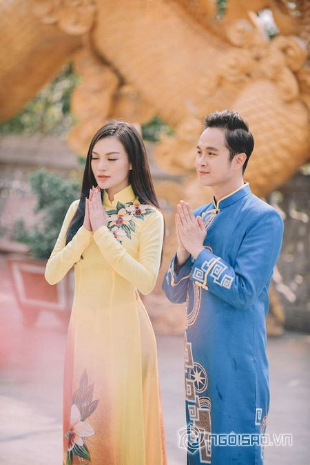Nhat Tinh Anh tinh tu ben Cao Thuy Linh cung nhau don xuan - Anh 9